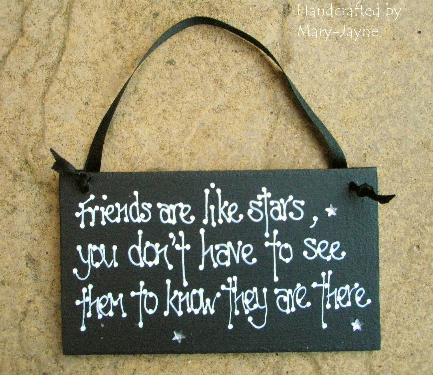 Friend Quote Plaque : Wooden gift plaque friends are like stars best by byfairydust