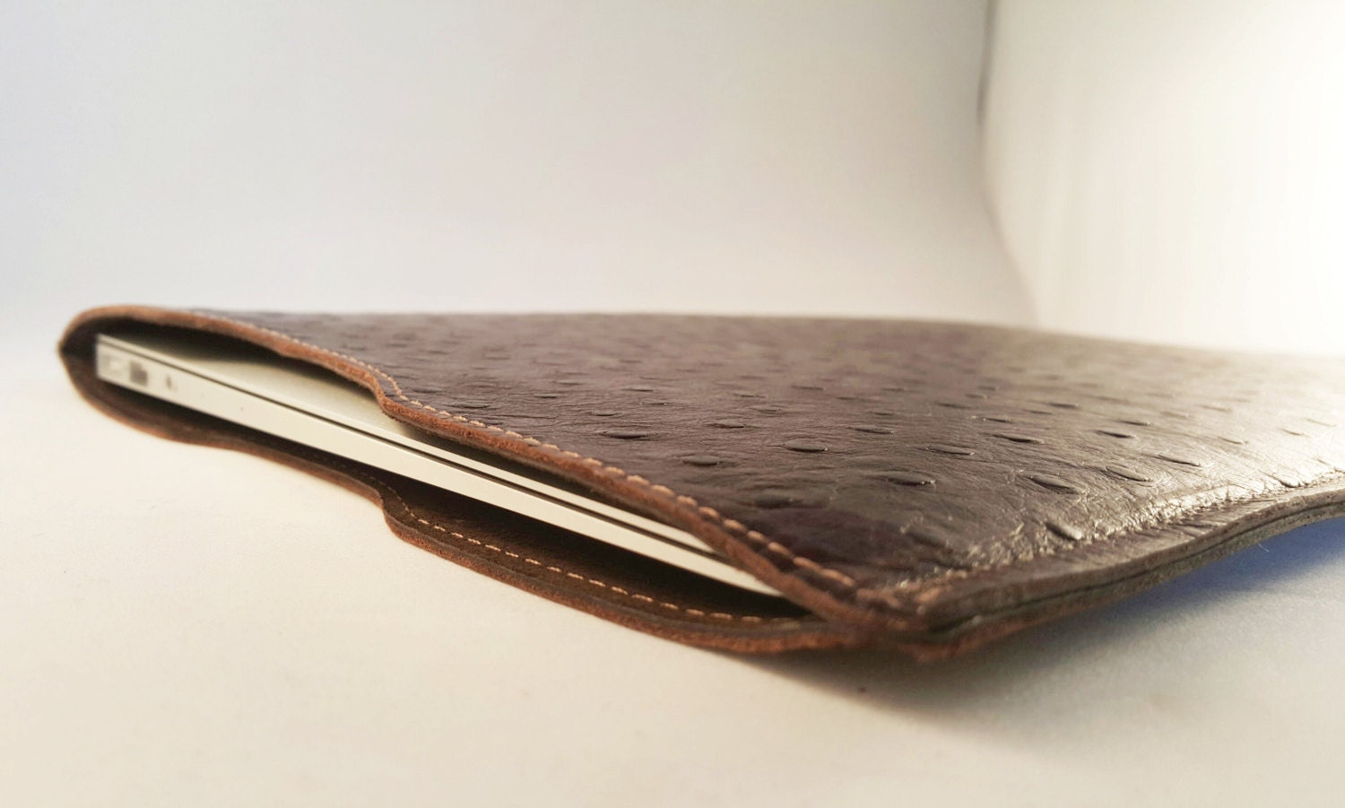 DORNEY Premium Leather and SuedeLined Macbook Air Laptop Sleeve 11 12 13