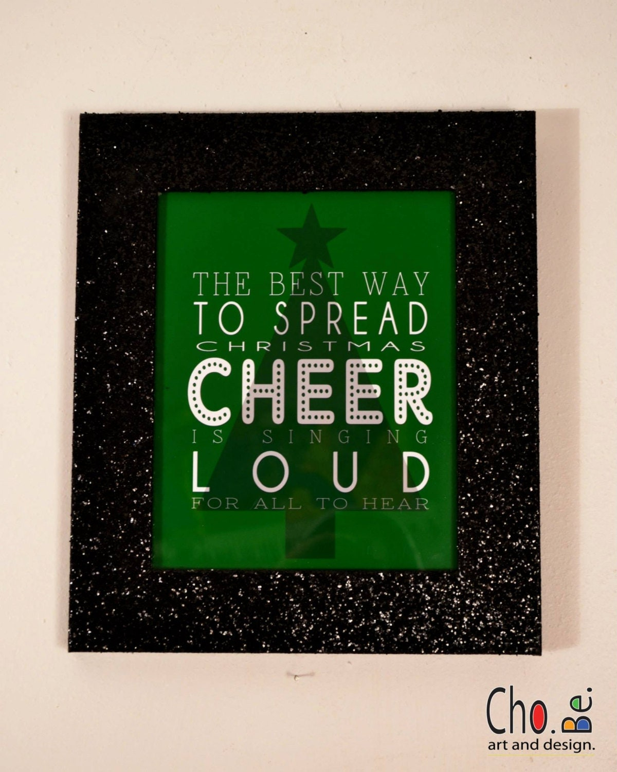 Elf Quote Black Glitter Frame The Best Way To Spread