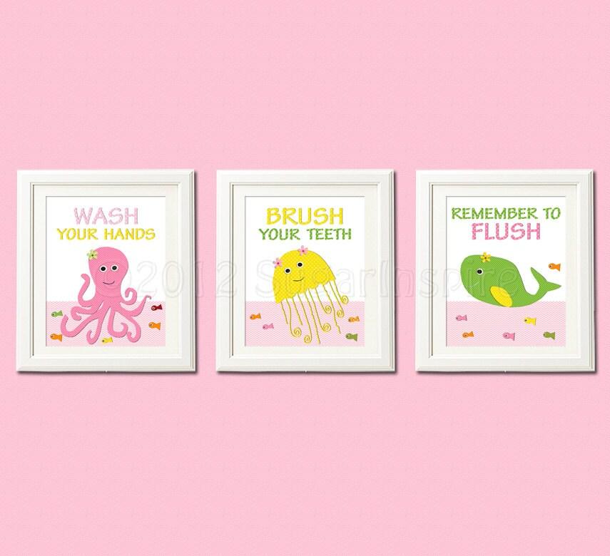 Bathroom Decor For Girls Popular Items For Kids Bathroom On Etsy