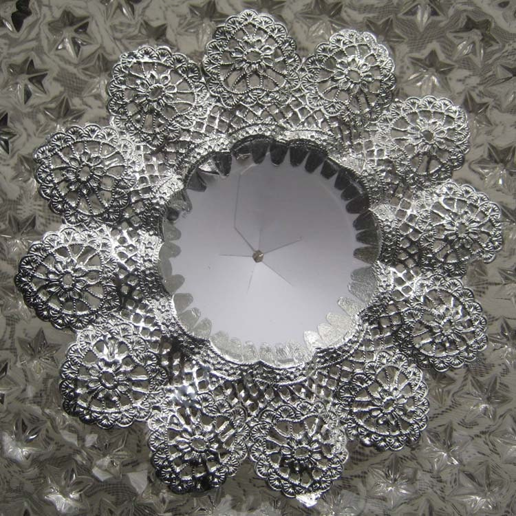 Silver Bridal Bouquet Holder : Germany fancy silver paper lace wedding by northsupplies