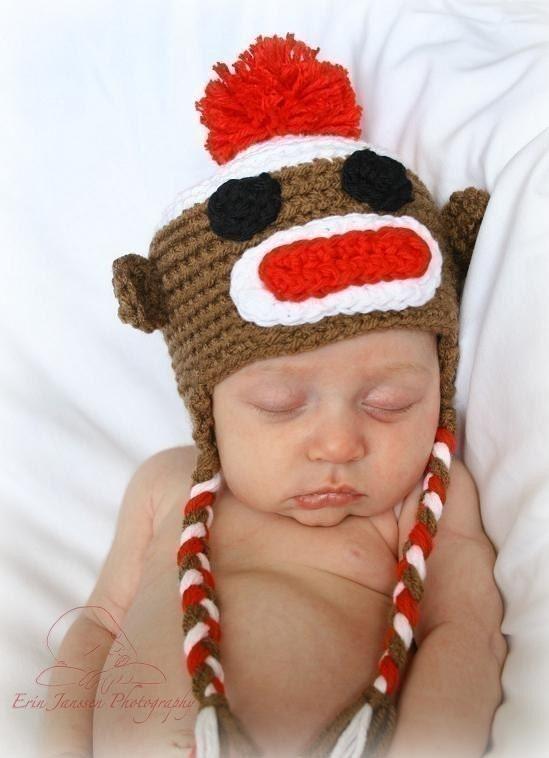 Monkey Beanie Hat Crochet Pattern : Unavailable Listing on Etsy