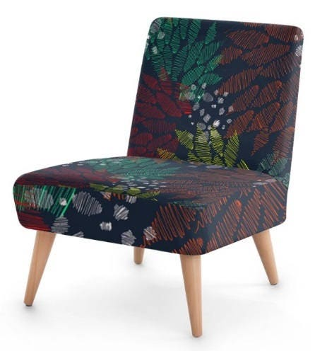 Designer Occasional Chair floral print Custommade furniture Designer Upholstery bedroom chair hall vintage design contemporary chair