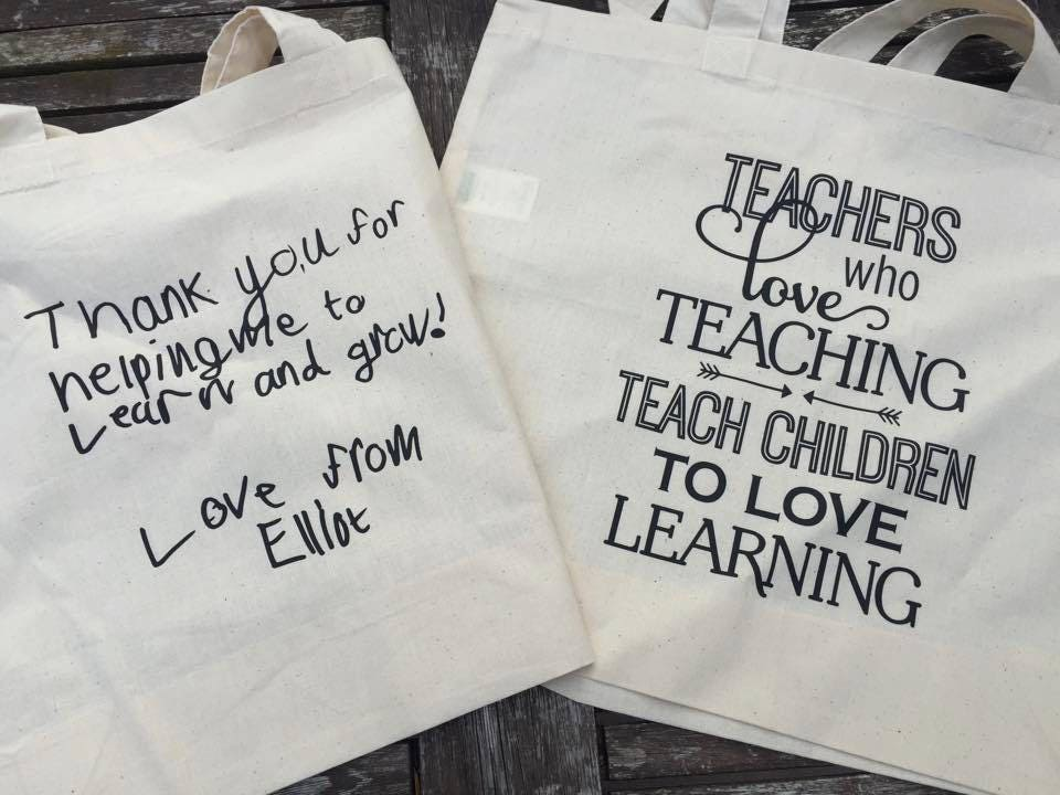 Teacher Tote Bag end of term gift teachers thank you teachers gift teachers shopper bag teachers who love teaching thank you teacher