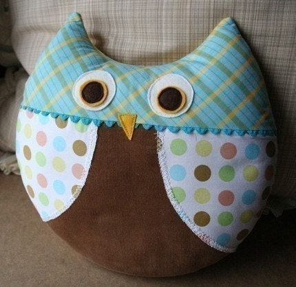 Cute Owl Pillow Pattern : Max the Owl Pillow Plush Sewing Pattern PDF Cute by sewlovefabrics