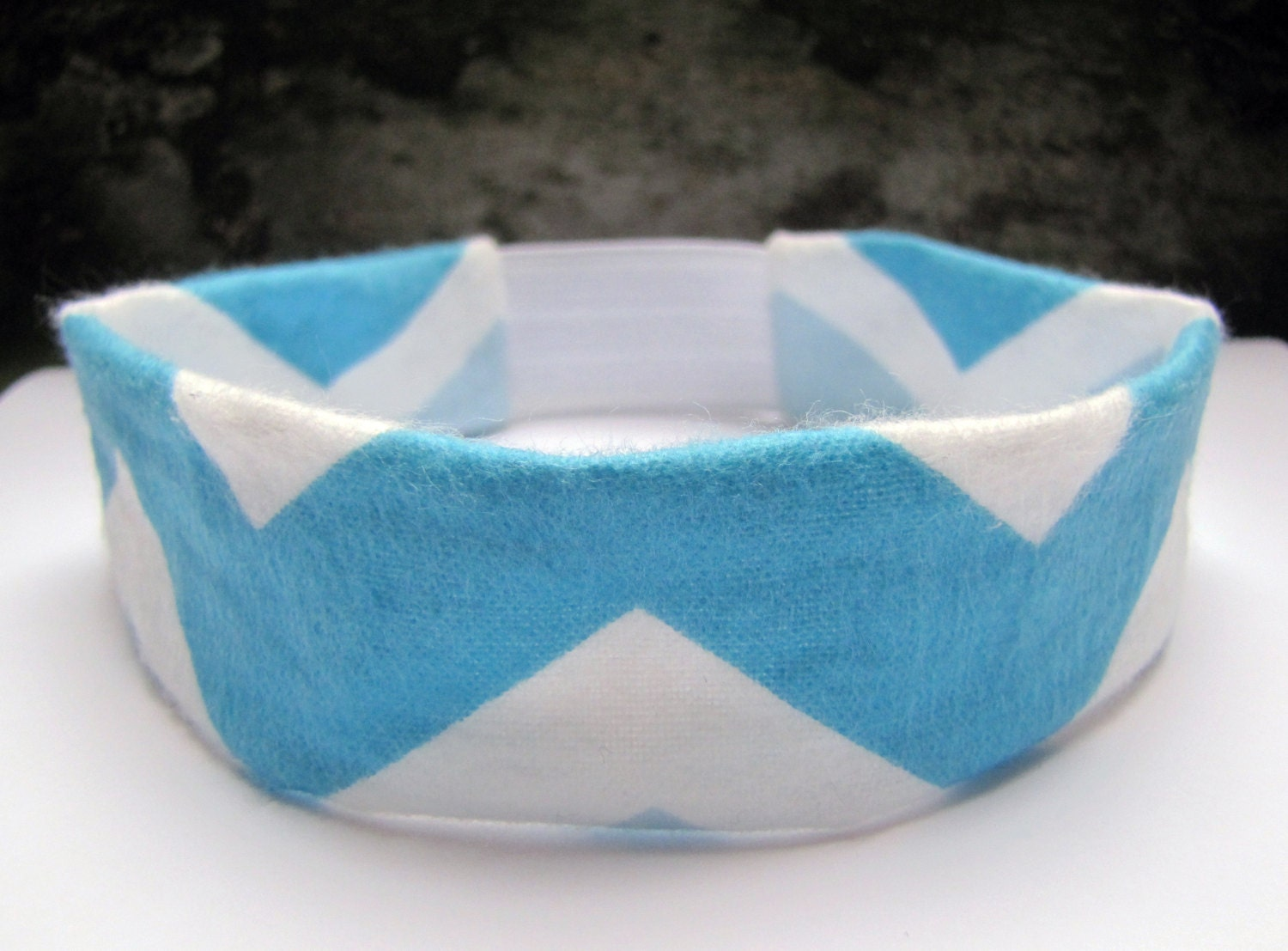 Blue Chevron Headband
