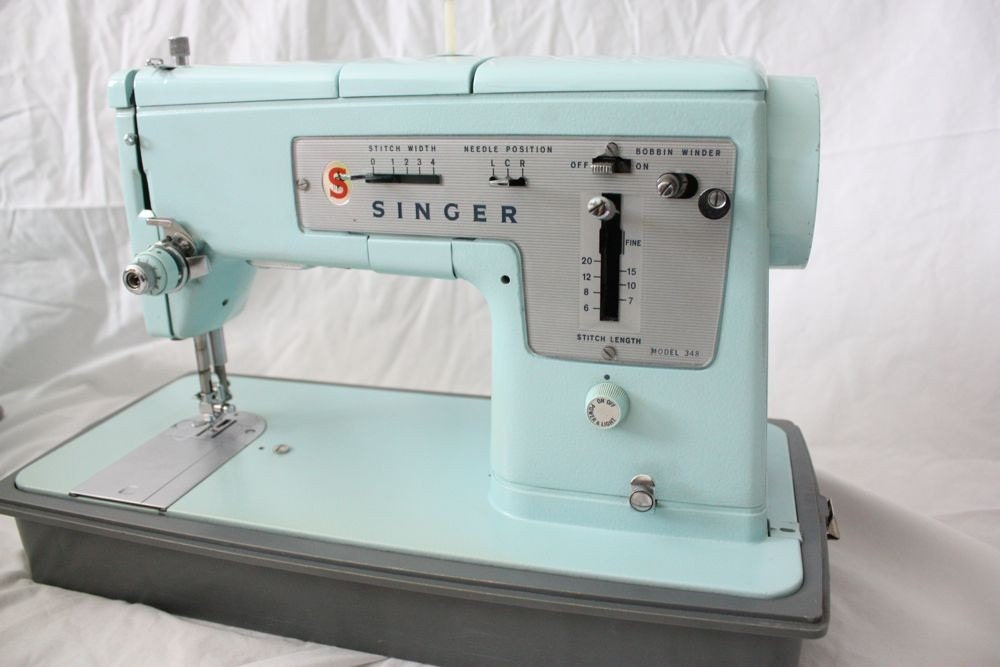Reserved Vintage Singer Sewing Machine Model 348 By