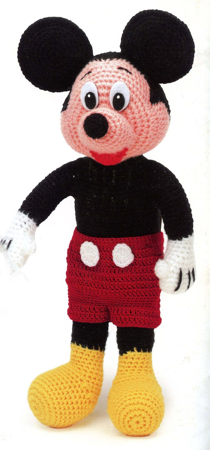 Knitting Mickey Mouse Pattern : Mickey Mouse Crochet Pattern by exceptionalpatterns on Etsy