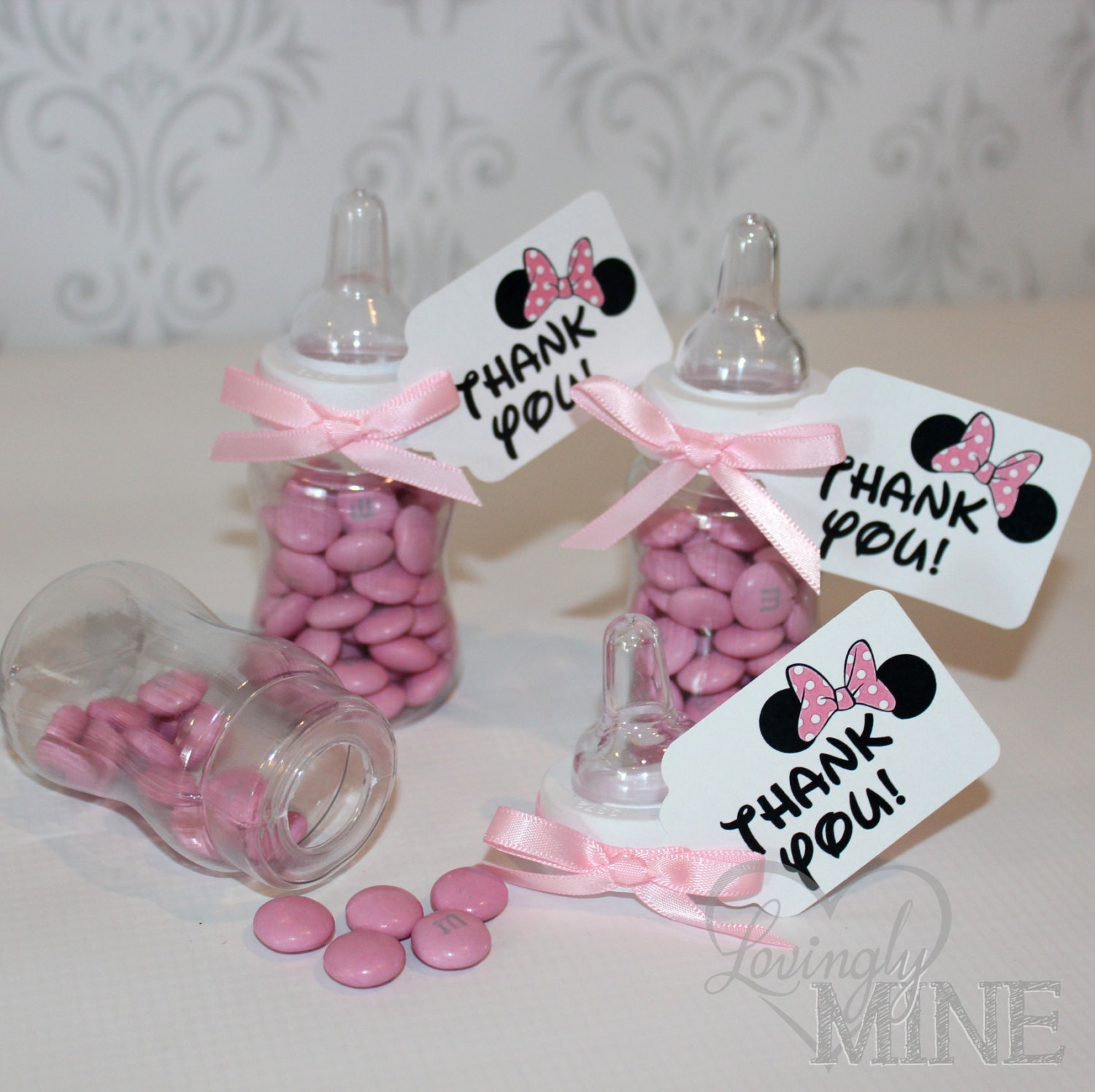 Minnie Mouse Baby Shower Party Favors: Minnie Mouse Inspired Baby Shower Favors Plastic By