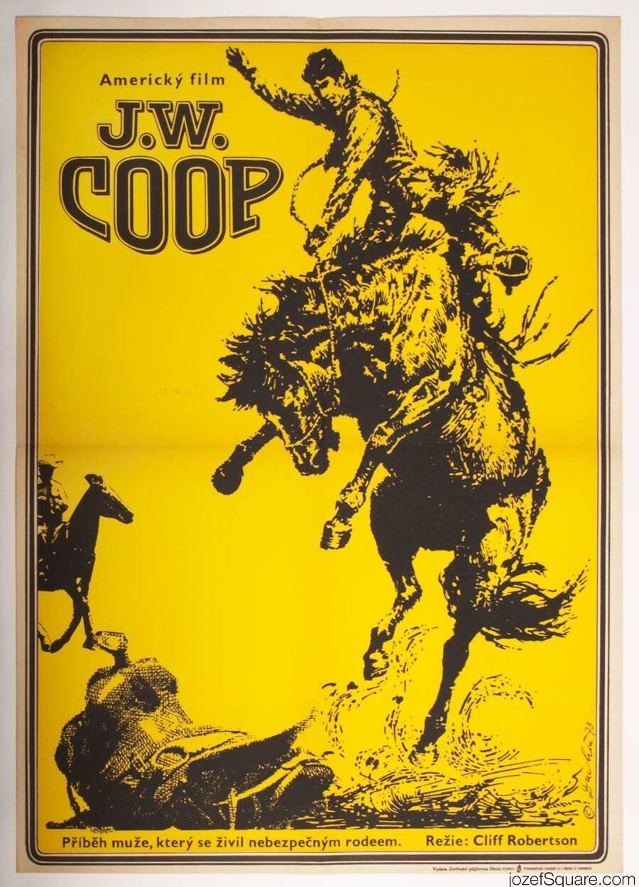 J.W. COOP Original 1970s Poster Western Poster American Film Vintage Movie Poster Cinema Art Vintage wall Art Home Decor Film Poster