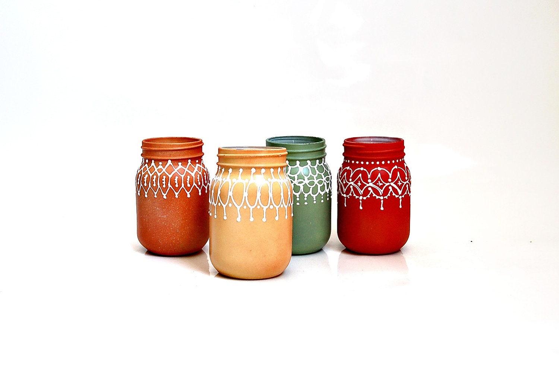 Autumn yellow mason jar decor - Dprintsclayful