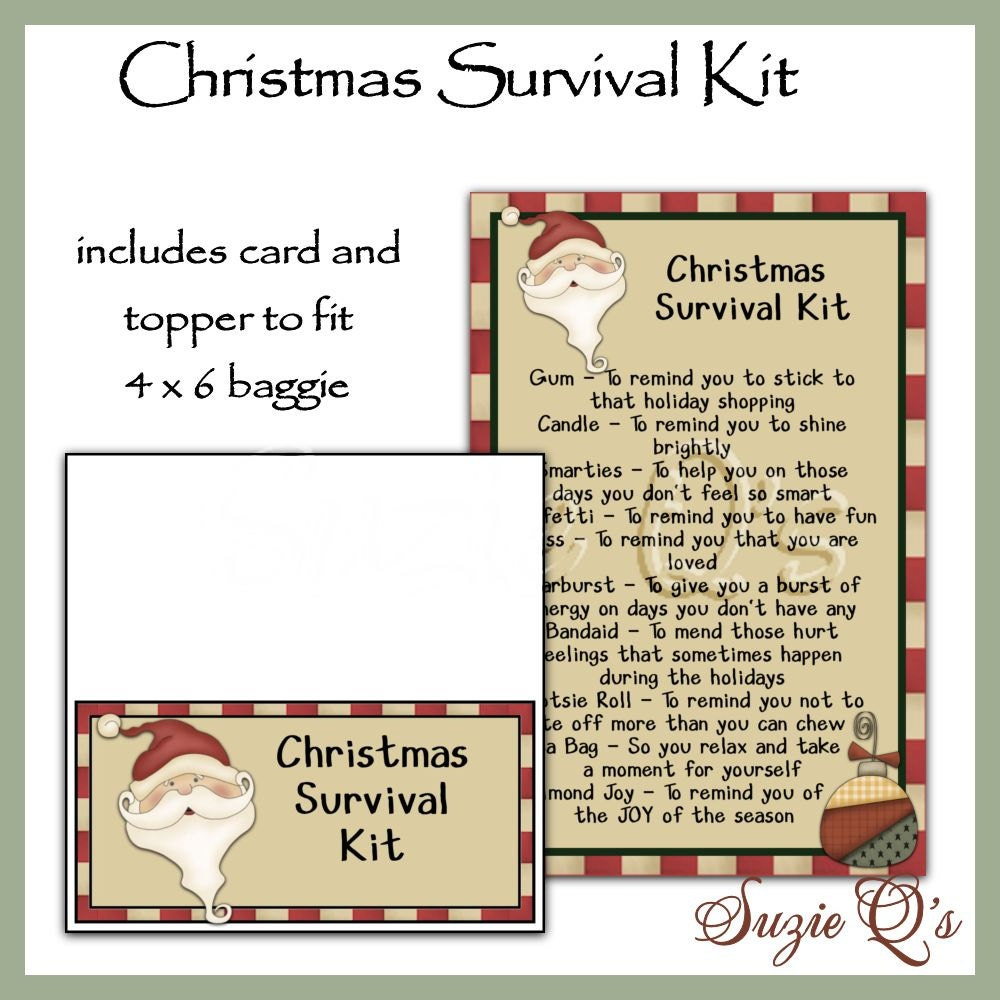 Christmas Survival Kit includes Topper and Card by ...