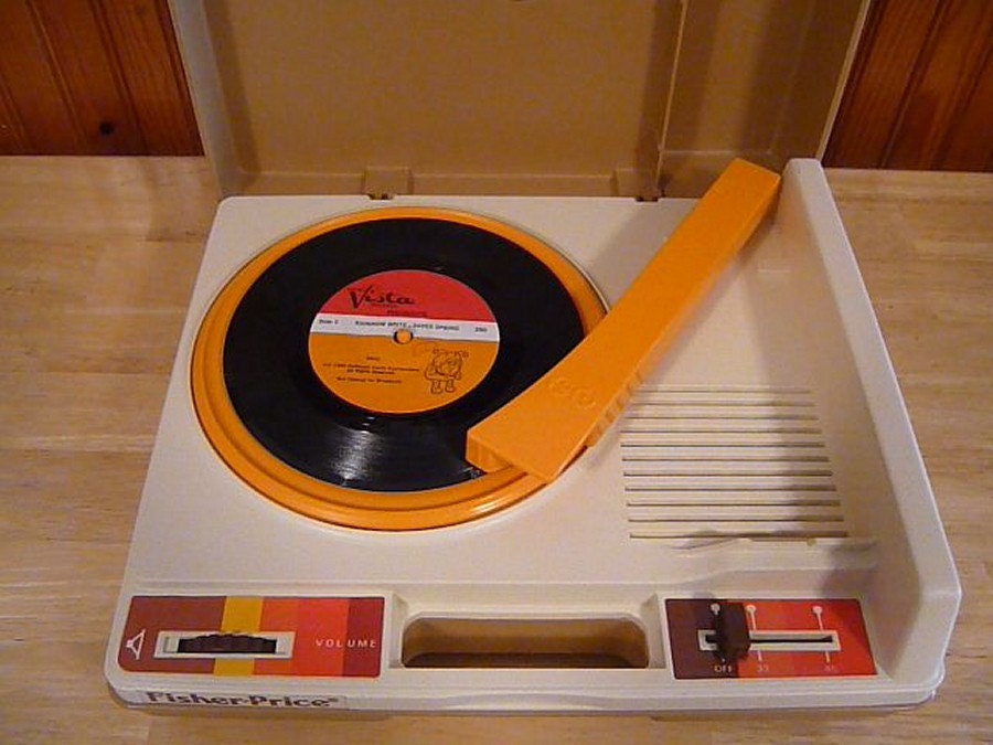 vintage fisher price record player works on by yeoldegeneralstore. Black Bedroom Furniture Sets. Home Design Ideas