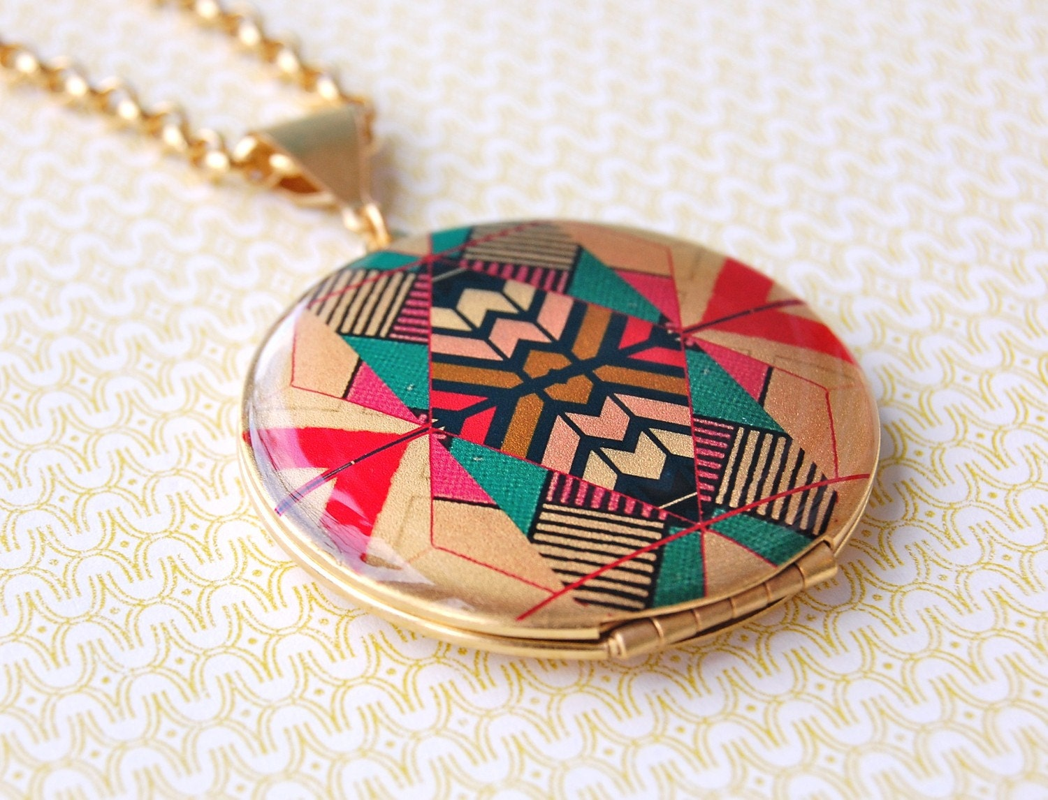 The Kaleidoscope Locket - Vintage - 16K Gold