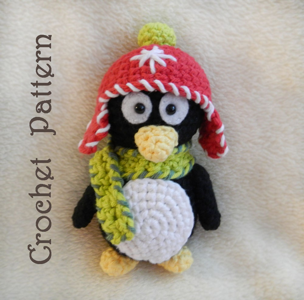 Crochet Amigurumi Pattern for Toy Penguin: PDF Pattern - HerterCrochetDesigns