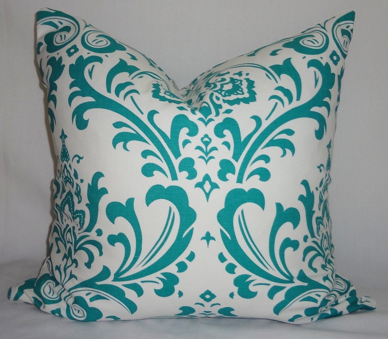 decorative pillow turquoise damask pillow covers by homeliving