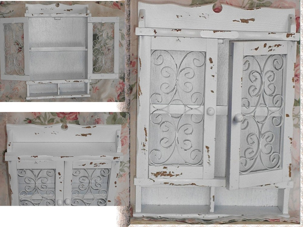 items similar to shabby wall cabinet chic cottage shelf