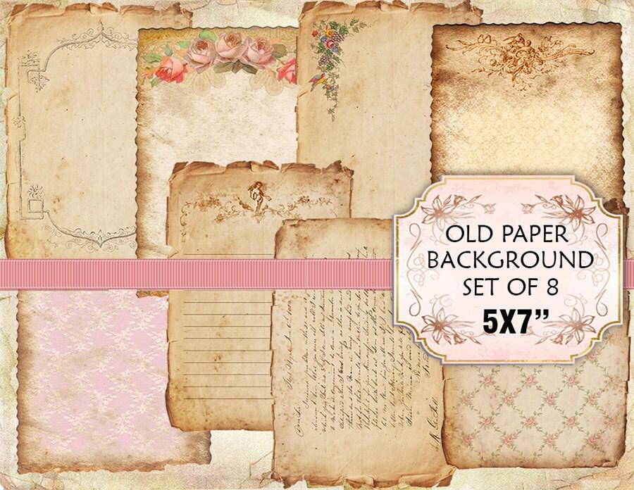 Old Notebook Paper Background Old Paper Vintage Backgrounds