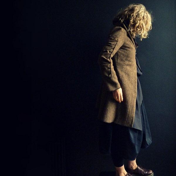 Brown Herringbone Tweed Jacket - 13threads
