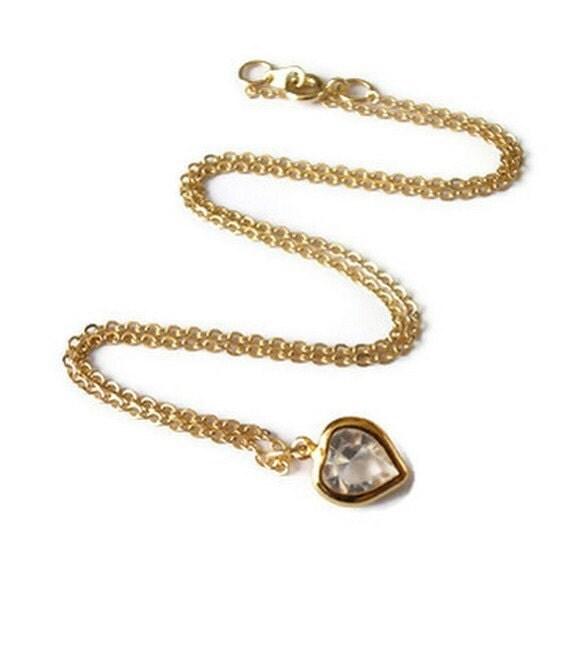 Collier en cristal Swarovski plaqu or collier minimaliste de dlicat Collier Collier kette