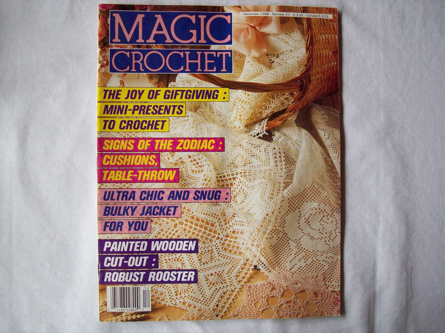 Magic Crochet Magazine : Magic Crochet Magazine December 1988 issue 57 by CozyHomeCrochet