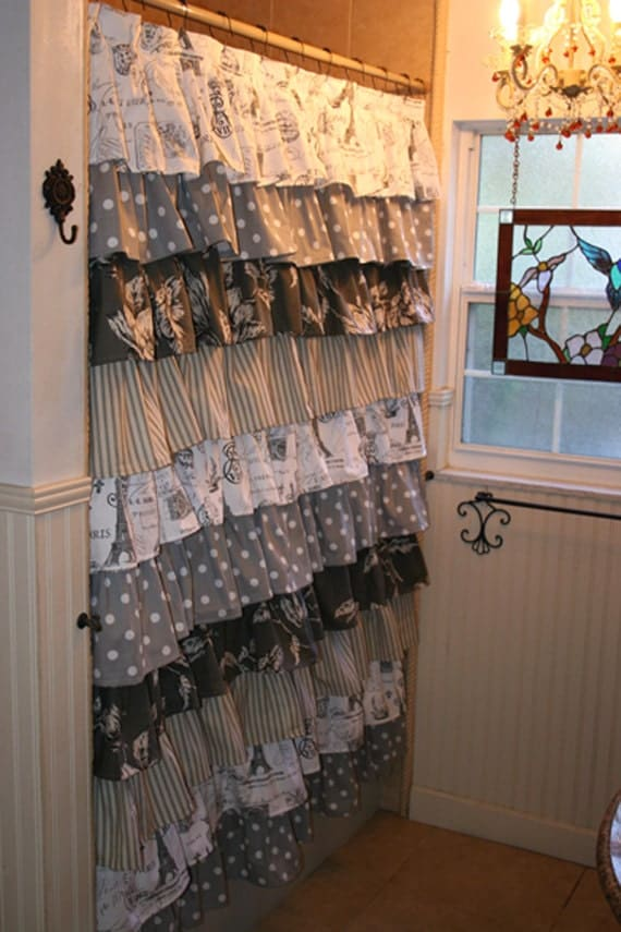 Ruffled Shower Curtain by MaribelClaribel on Etsy