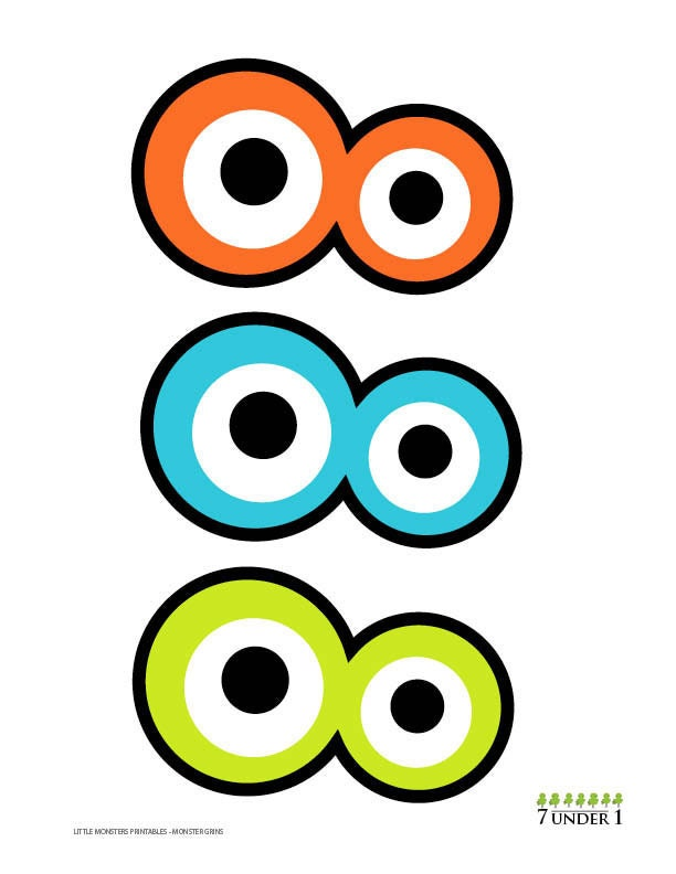 ... Little Monster Party Decorations - Monster eyes AND Monster grins