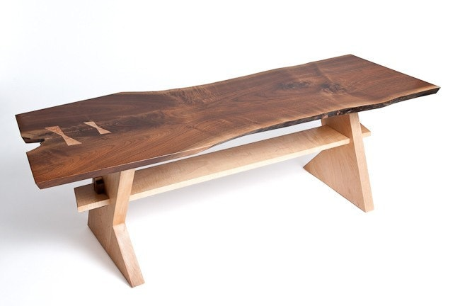 raw edge wood coffee table by thedoctorswoodworks on etsy With raw edge wood slab coffee table
