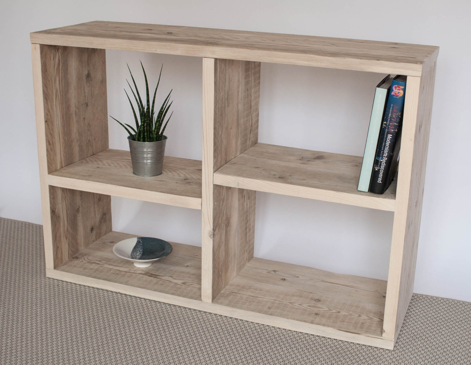 Shaun  Reclaimed Wood Bookcase  Handmade Bookcase  Bespoke Furniture  Display Unit  TV Stand TV Unit  Bookcase
