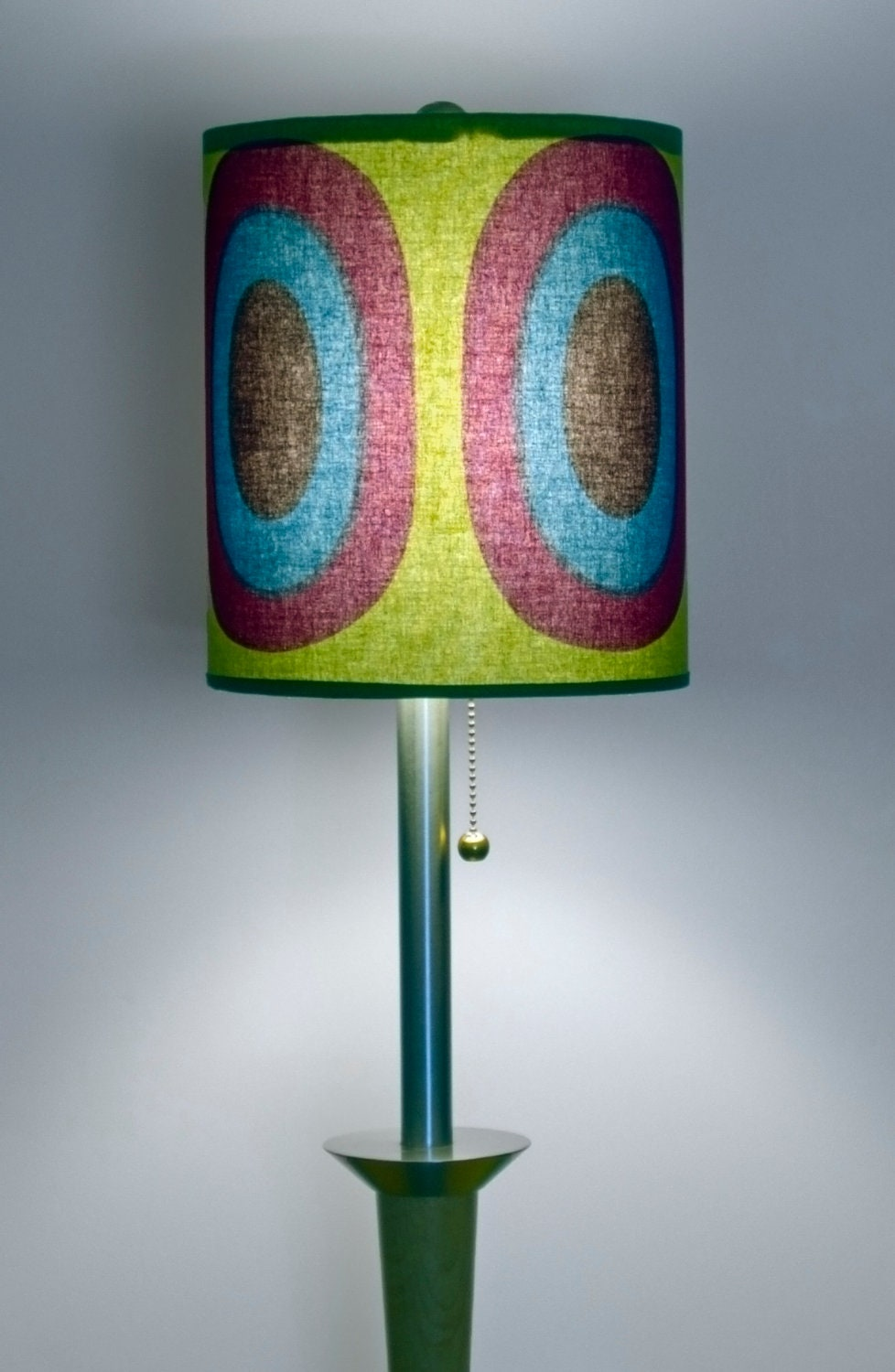 "Rare Custom made Marimekko Melooni Lamp Shade 9"" x 11"""