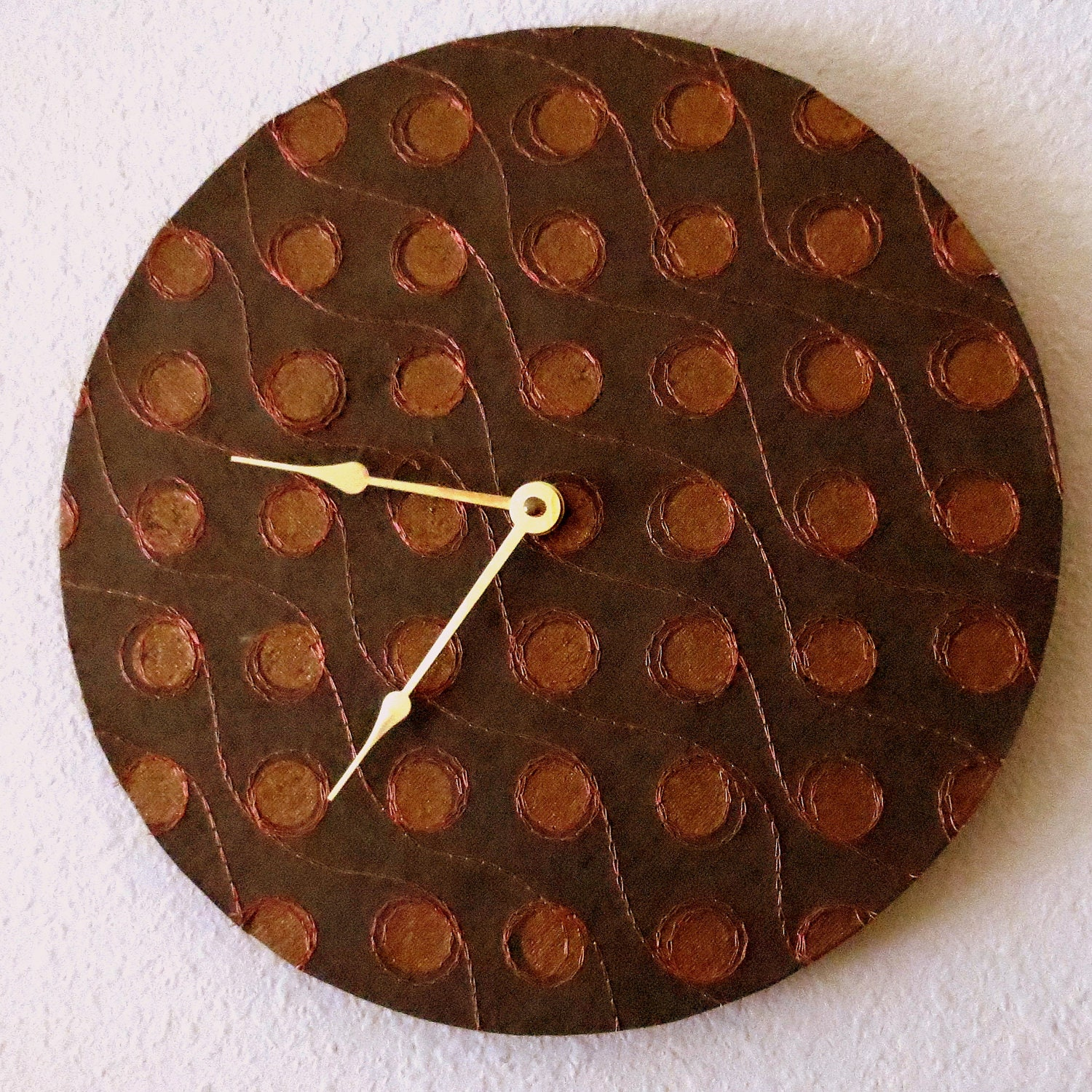 large wall clock home decorcopper clock home and by. Black Bedroom Furniture Sets. Home Design Ideas