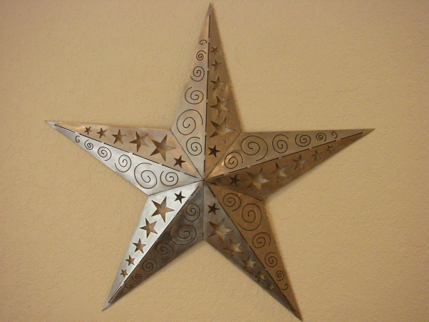 Wall Art Metal Stars : D ornamental texas star metal wall art by metalheadartdesign