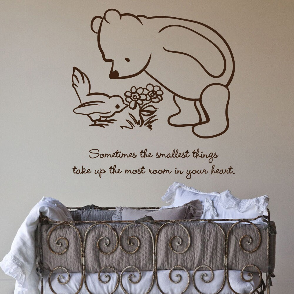 Items similar to classic pooh sometimes the smallest for Classic pooh mural