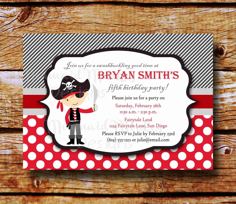 Pirate birthday party invitations templates - photo#17