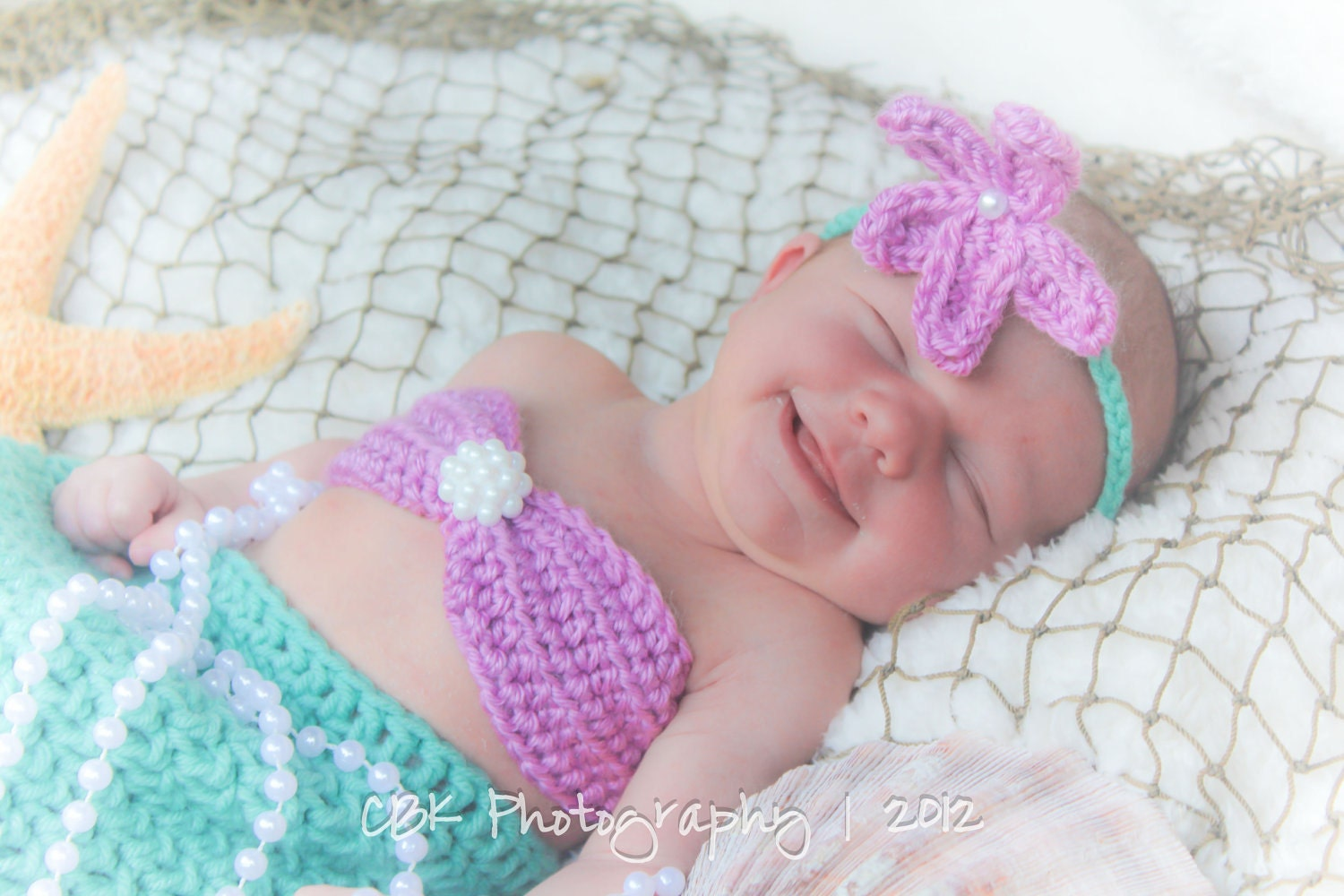 Crochet Pattern For Toddler Mermaid : Crocheted Mermaid Tail Newborn Mermaid Outfit Baby by ...