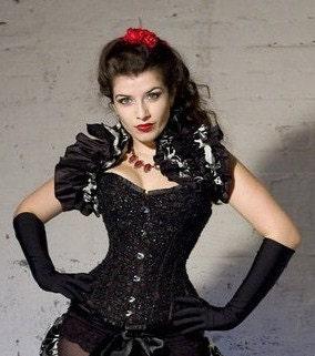 Gothic Steampunk Shrug  Lolita Burlesque Goth Opera Shrug By Aphrodites Folly - AphroditesFolly