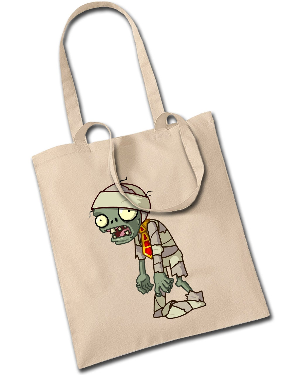 Cartoon Mummy Zombie Tote Bag Trick Or Treat Sweet Bag My First Halloween Retro Cool Kids Pumpkin Novelty Fancy Dress Shoulder Bag Handbag