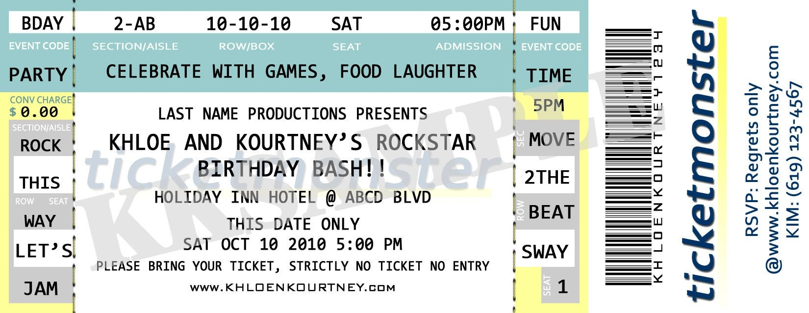 Doc550254 Concert Ticket Template Free 33 Premium Free Ticket – Make Your Own Concert Tickets