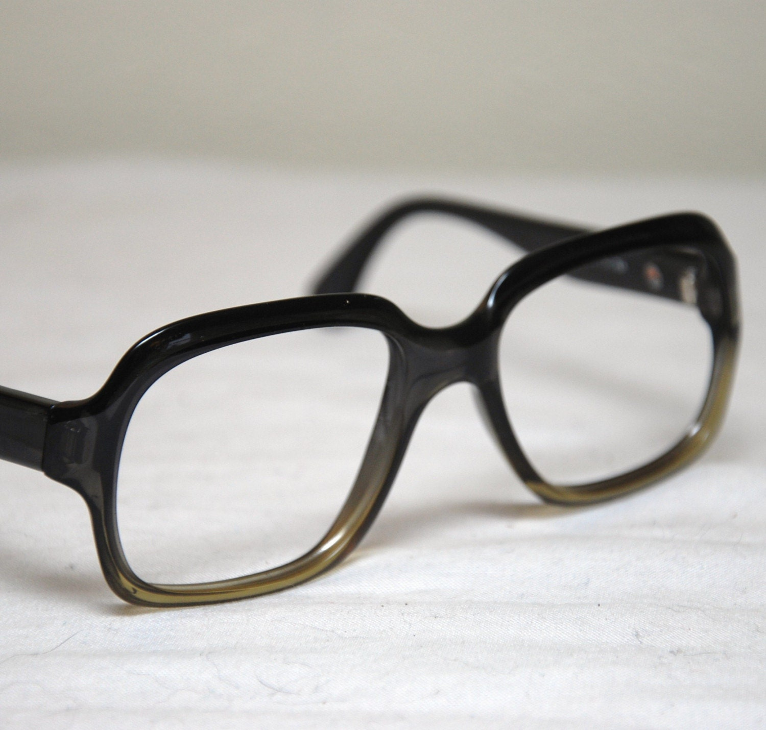 Big Thick Frame Glasses : Vintage 50s 60s BIG Thick Nerd Eyeglasses by AtomicFoxVintage