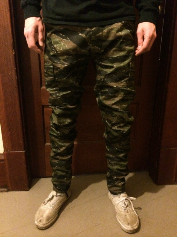 custom slim tapered authentic tiger camo bdu pants by byeguys. Black Bedroom Furniture Sets. Home Design Ideas