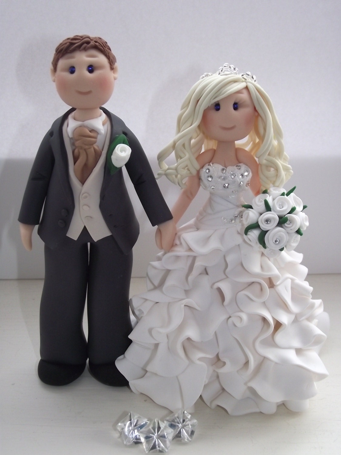 Items Similar To Personalised Bride And Groom Wedding Cake Topper All Handmade Customised On Etsy