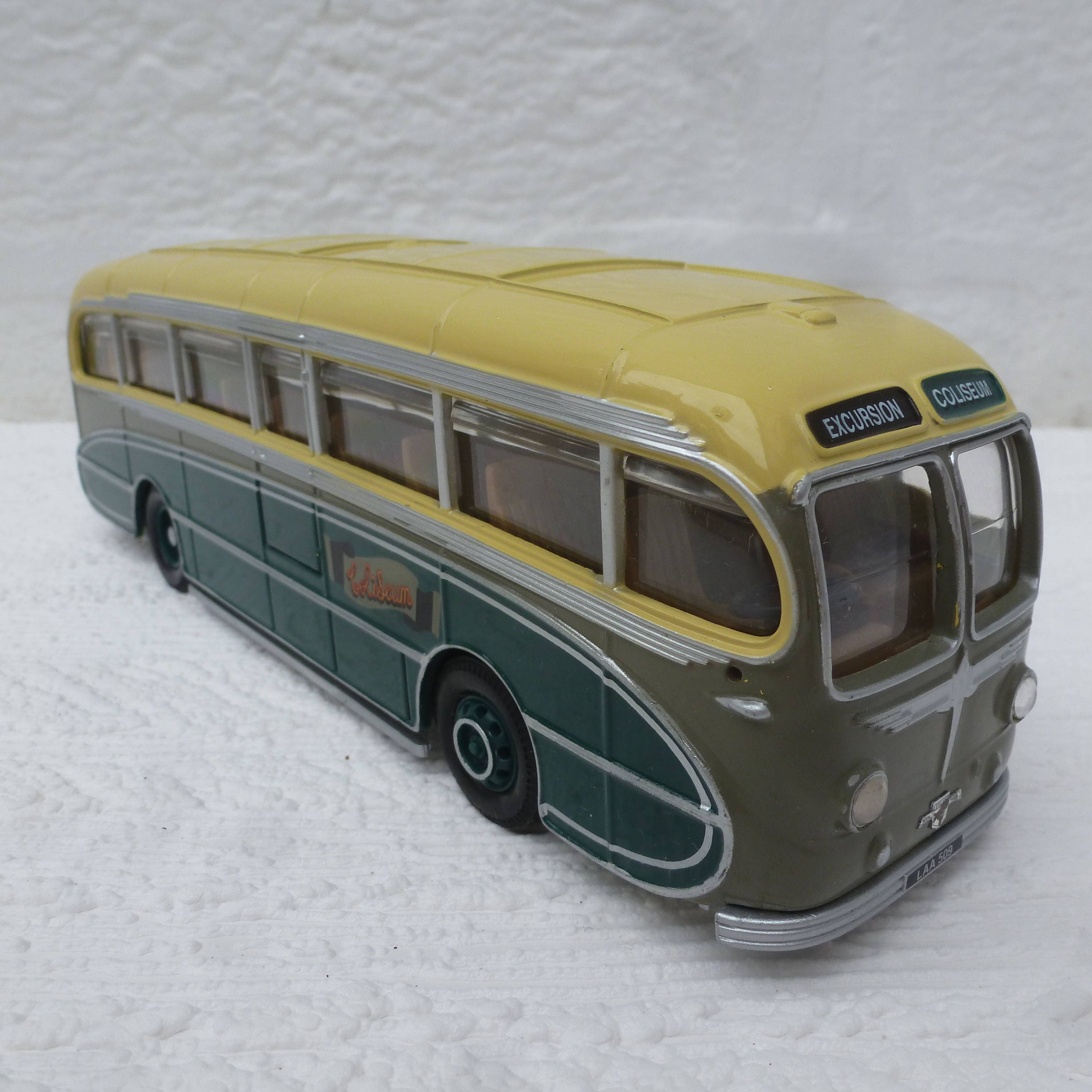 Vintage vehicle bus green coach 1993 birthday gift toy present collectors item bus gift for him green yellow model toy limited edition dads