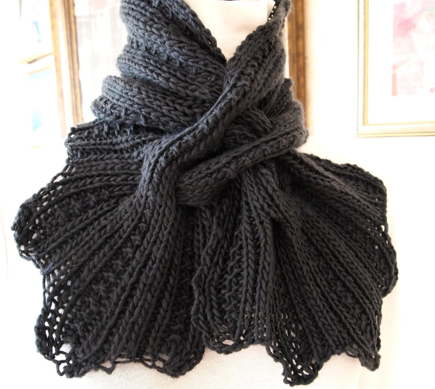 Free Patterns For Knitted Scarves : HAND KNIT SCARF PATTERNS   Free Patterns