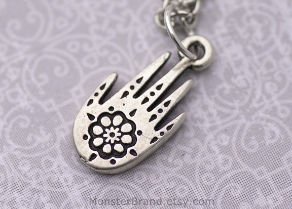 Items Similar To Henna Tattoo Necklace Tiny Silver Tattoo