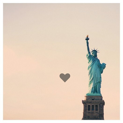 Travel Photograph - Landscape - New York Photograph - Valentine - Statue of Liberty - America - Lovely Lady-  Original Fine Art Photograph