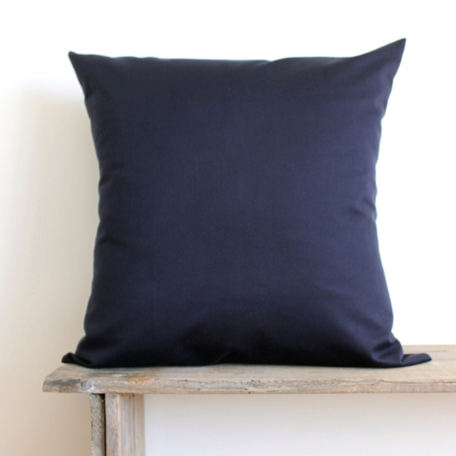 Dark Blue Throw Pillow : SET OF 2 Solid Blue Pillow Covers Dark Blue by laughterandsand