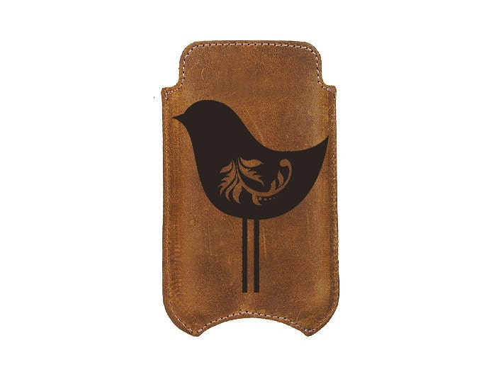 Leather iPhone 4 Cover - Birdie