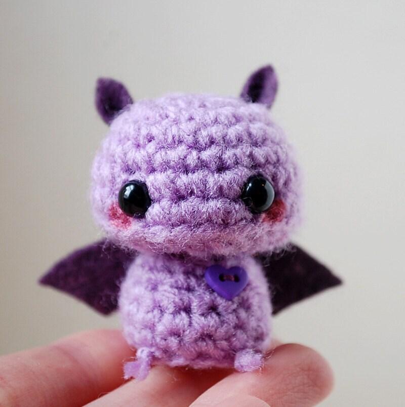 Amigurumi Bat Wings : Baby Purple Bat Kawaii Mini Amigurumi by twistyfishies on Etsy