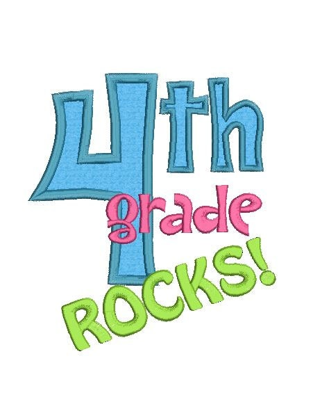 Th grade rocks applique machine by fancyfontsembroidery