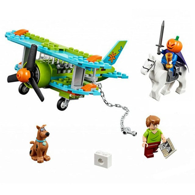 NEW Scooby Doo Mystery Plane Adventures Building Blocks Bricks Children Gift Toy Custom Unbranded Compatible Fits Lego 127 Pieces Shaggy